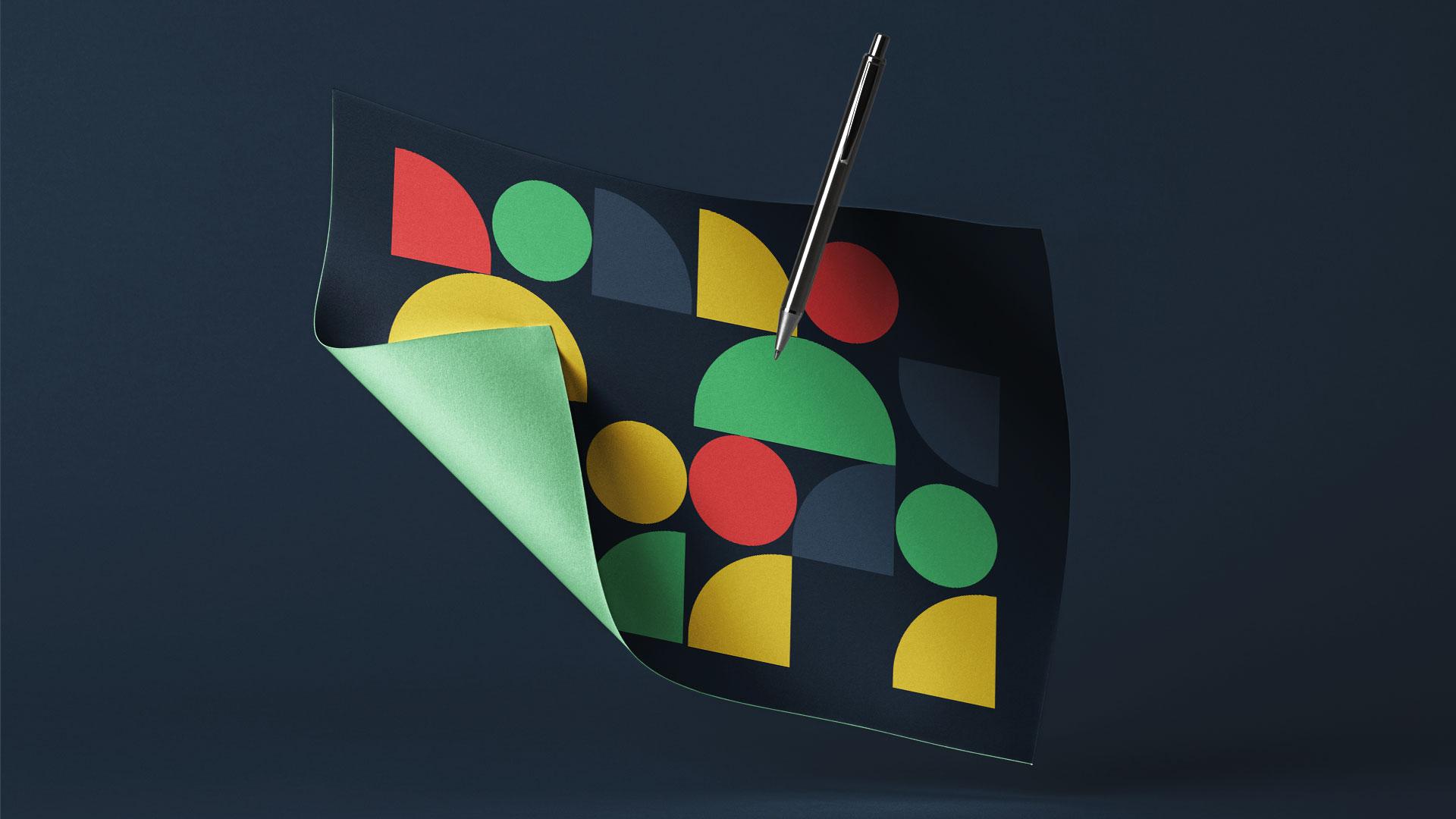 bandeira com itens quadriculados